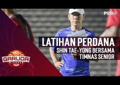Latihan Perdana Shin Tae-yong Bersama Timnas Senior