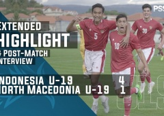 U-19 International Friendly Match : Indonesia 4 - 1 North Macedonia