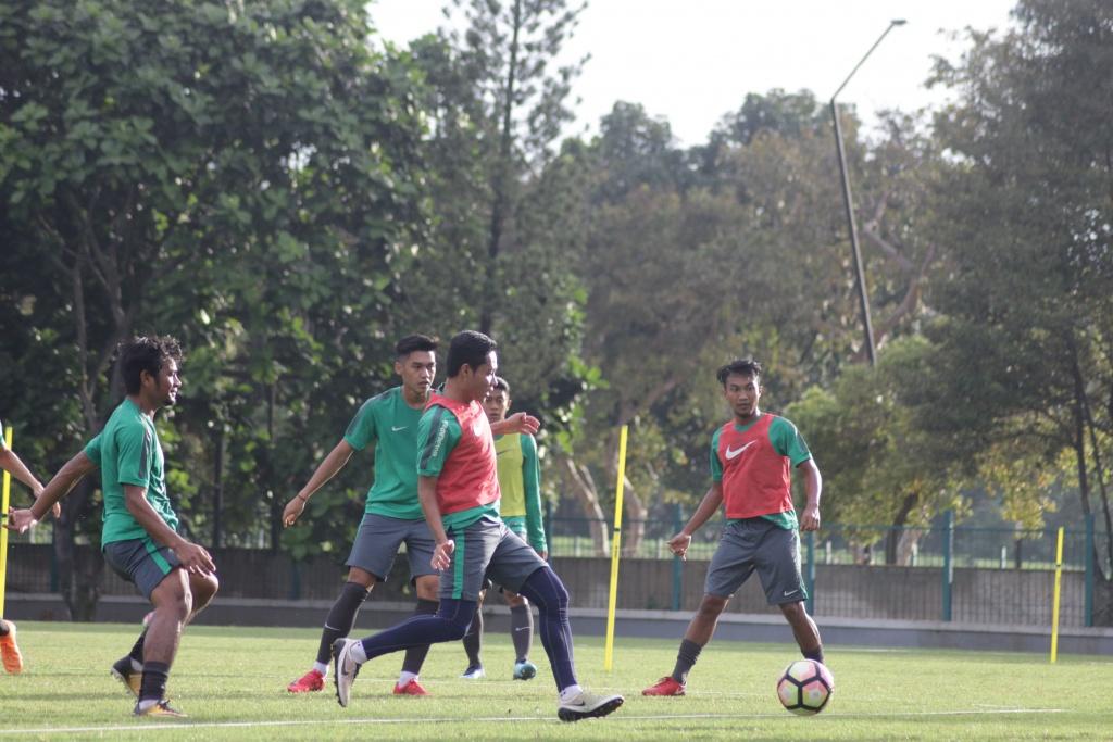 TC Timnas U-23 Menjelang PSSI Anniversary Cup 2018