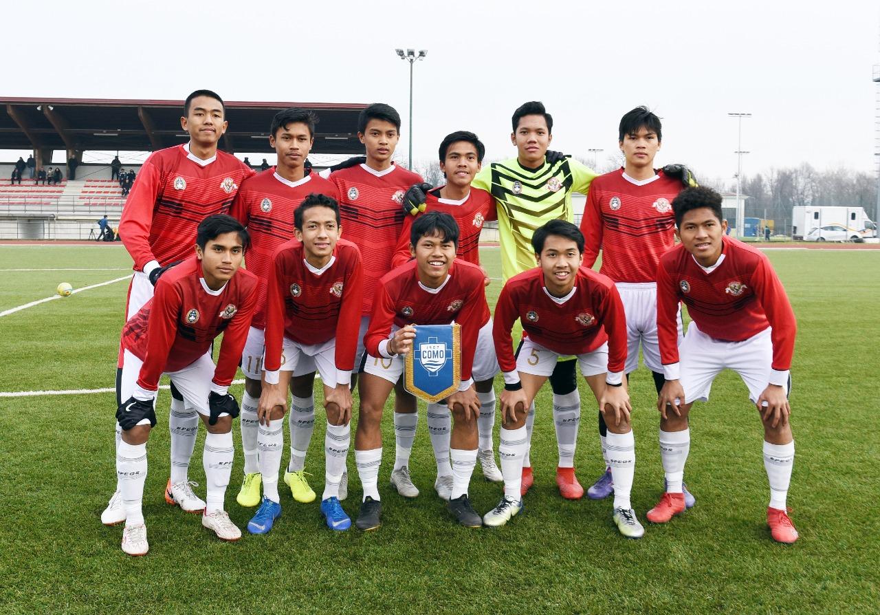 Potret Aksi Garuda Select Manghadapi Como U-17