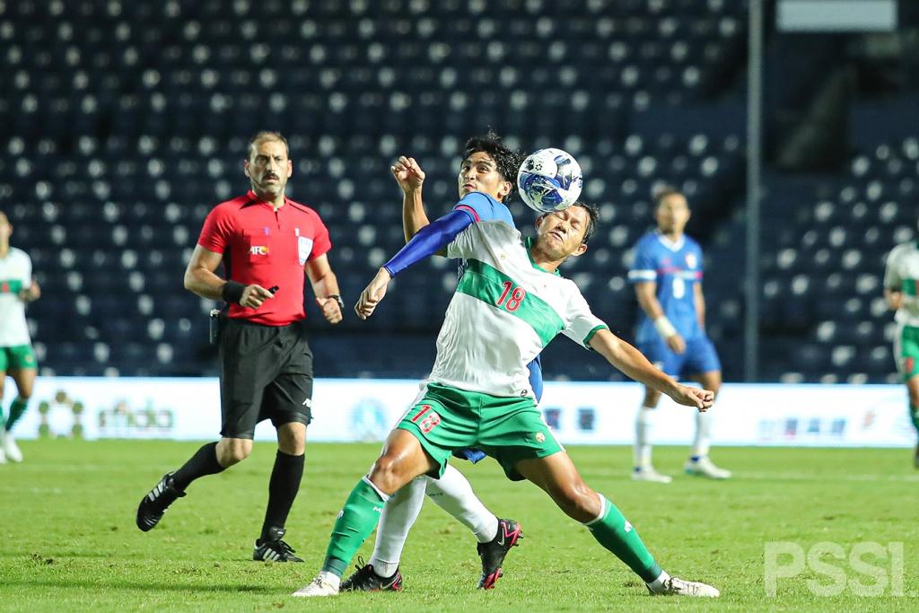 Potert Aksi Penggawa Garuda saat mengalahkan Taiwan 0-3.