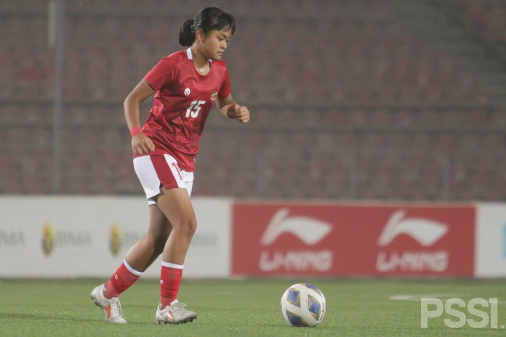 Aksi Timnas Wanita Saat Meraih Kemenangan 1-0 atas Singapura