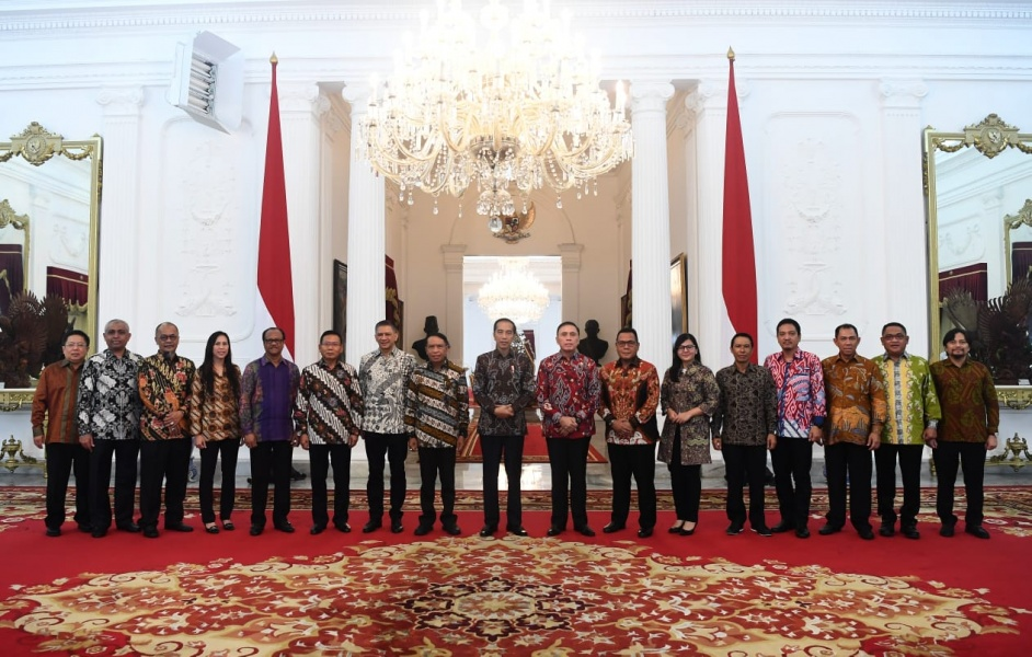 Jajaran PSSI Bertemu Presiden Di Istana