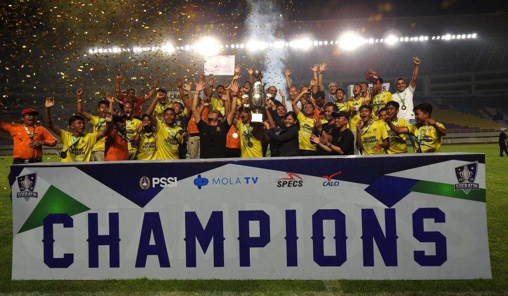 Sumatera Barat Kampiun Piala Soeratin U15