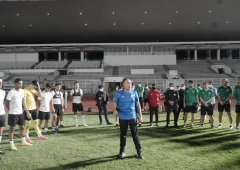 Sambangi Latihan, Ketum PSSI Motivasi Pemain Timnas